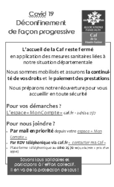 La CAF reste disponible et accessible par téléphone