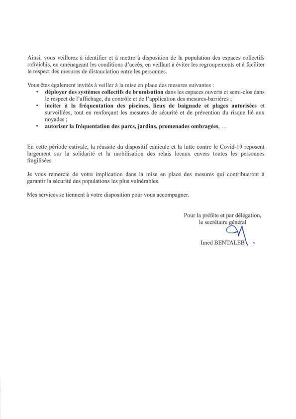Canicule : Plan de gestion départemental
