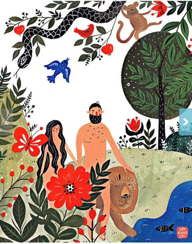 Illustrations bibliques originales pour enfants