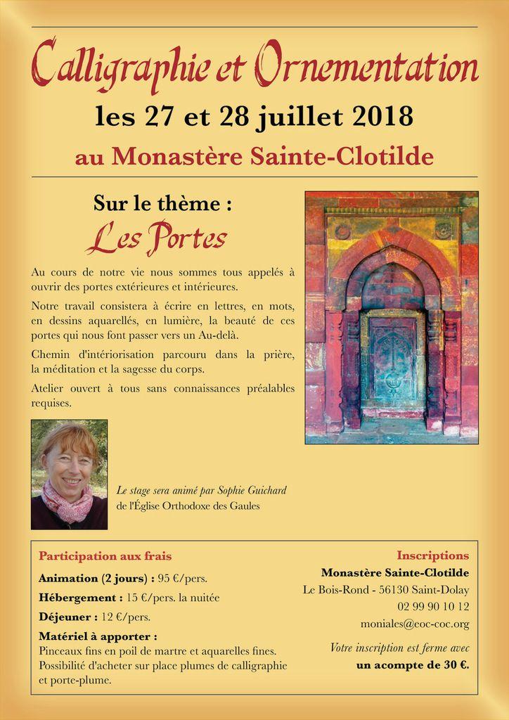 27 et 28 juillet : Stage de calligraphie et d'ornementation en Bretagne