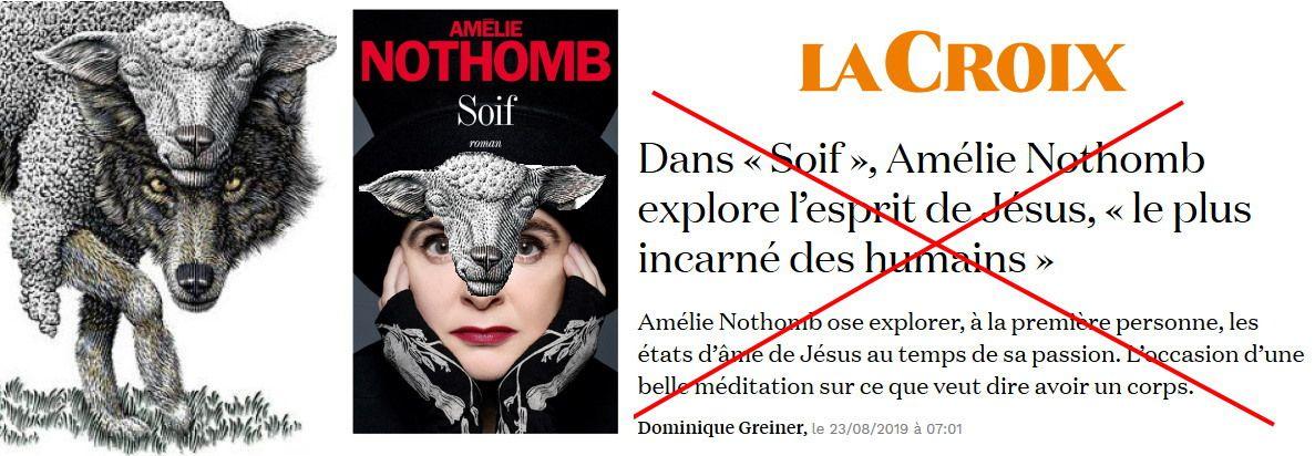Lettre ouverte à Amélie Nothomb