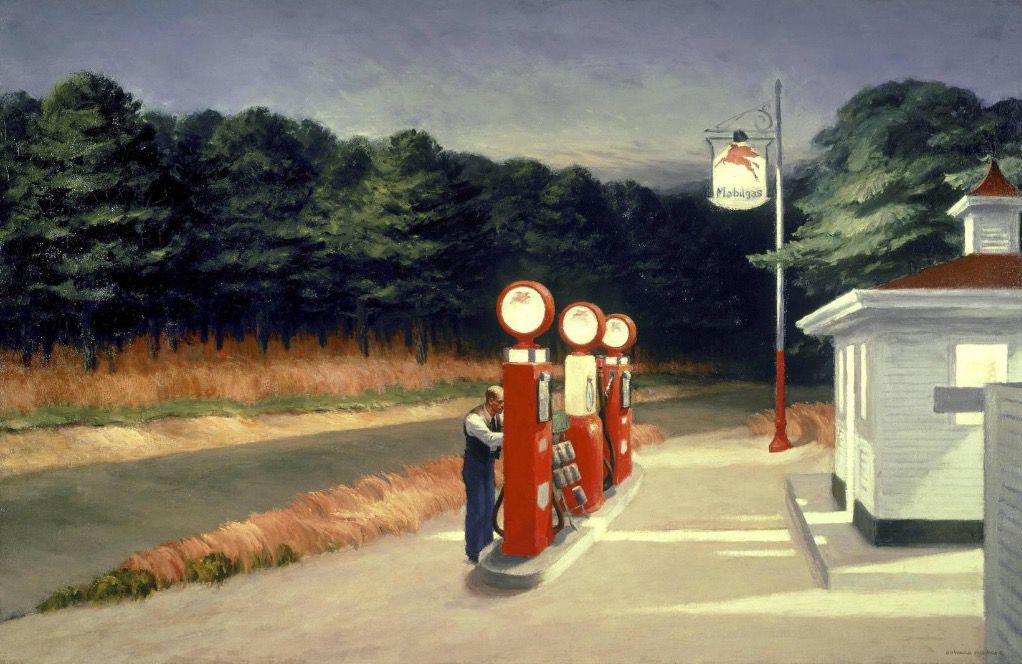 Station-service (1940), MoMA (New York). 66,7 cm x 102,2 cm, huile sur toile.