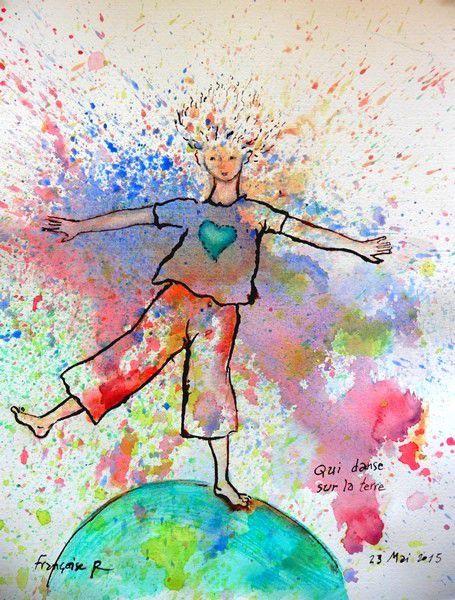 """( et voilà pourquoi je ne peux produire des peintures à volonté ; aujourd'hui , ce thème du danseur cosmique joyeux , je le traiterais différemment ... mais ces jours-ci ,  je suis en train de peindre une grande étude d'une branche de noisetier . Ca n'est pas """" moi"""" qui commande !"""