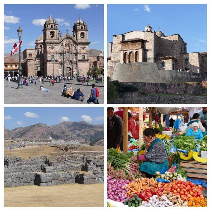 Cusco (3350m): Eglise de la Compagnie de Jésus; Coricancha (temple du Soleil); forteresse de Sacsayhuaman - Marché de Chinchero (3780m)