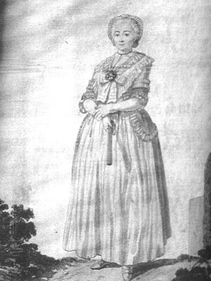 Ober Elsasserin, Magazin für Frauenzimmer 1785  Musée historique de Mulhouse