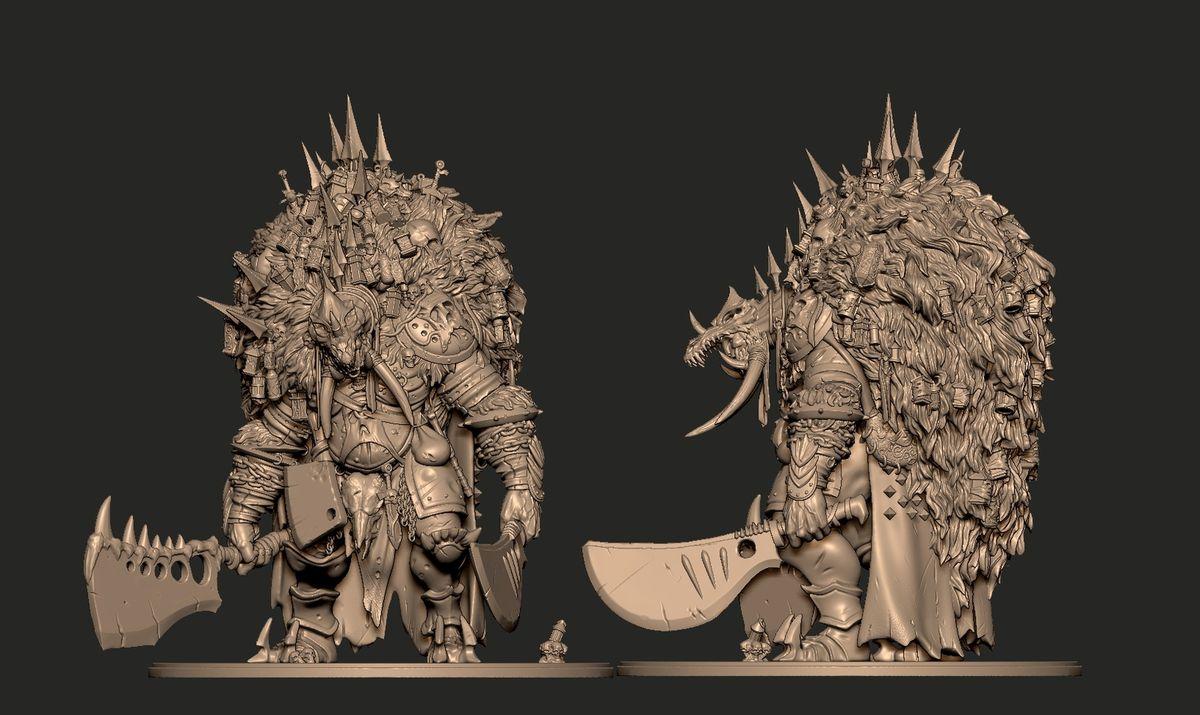 Ancient Butcher sculpted with Kieran Mc Kay
