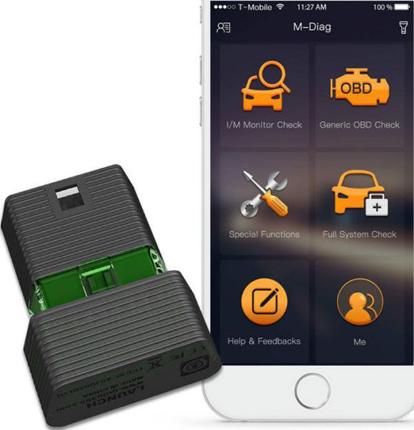 Original Launch M-Diag for iOS Android Adapter With One free