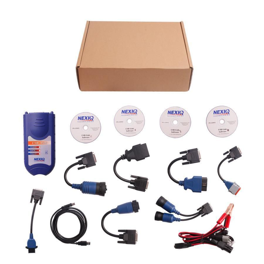 NEXIQ 125032 Link Diesel Heavy Duty Truck Diagnostic Tool FULL SET with BOX DHL