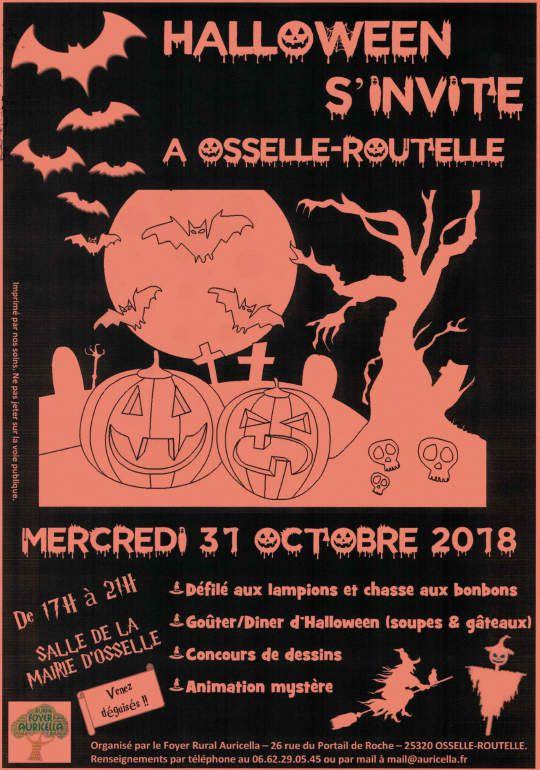 NOUVEAUTÉ 2018, HALLOWEEN À OSSELLE-ROUTELLE !! BOOOOO !!
