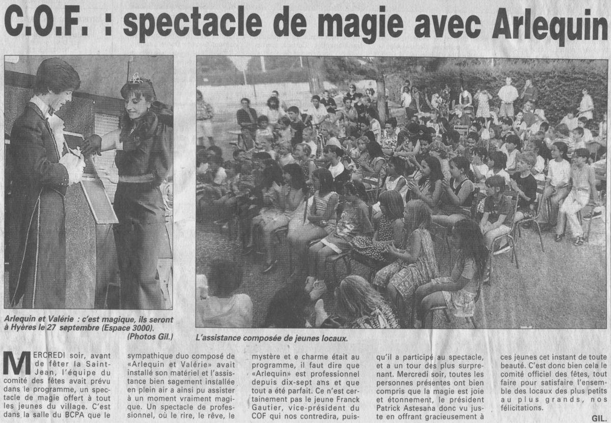 Arlequin, magie