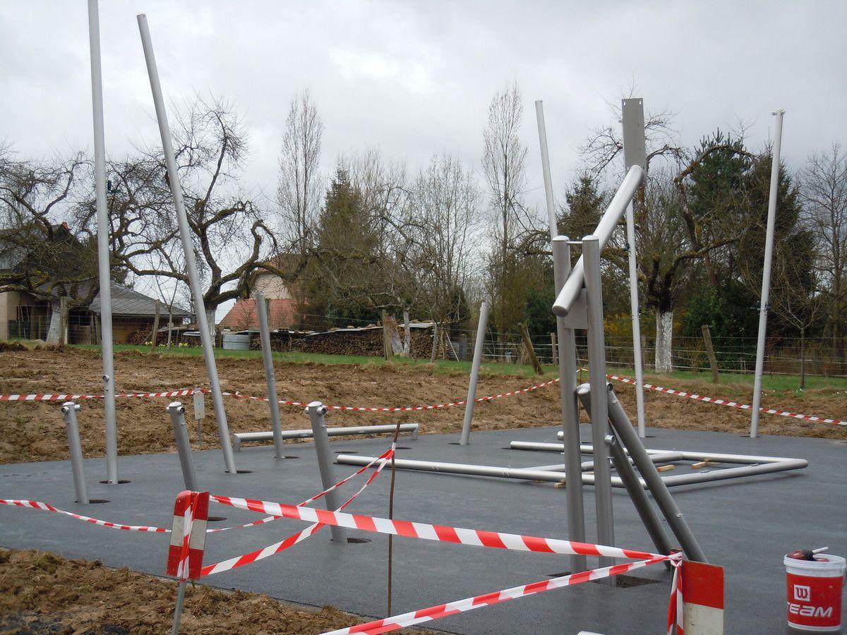 2017 : Construction du terrain multisports d'Arreux