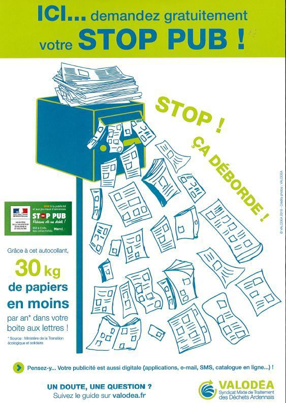 STOP PUB  disponible en Mairie