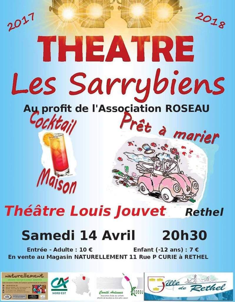 Association Roseau , soirée Théâtre ce soir à Rethel