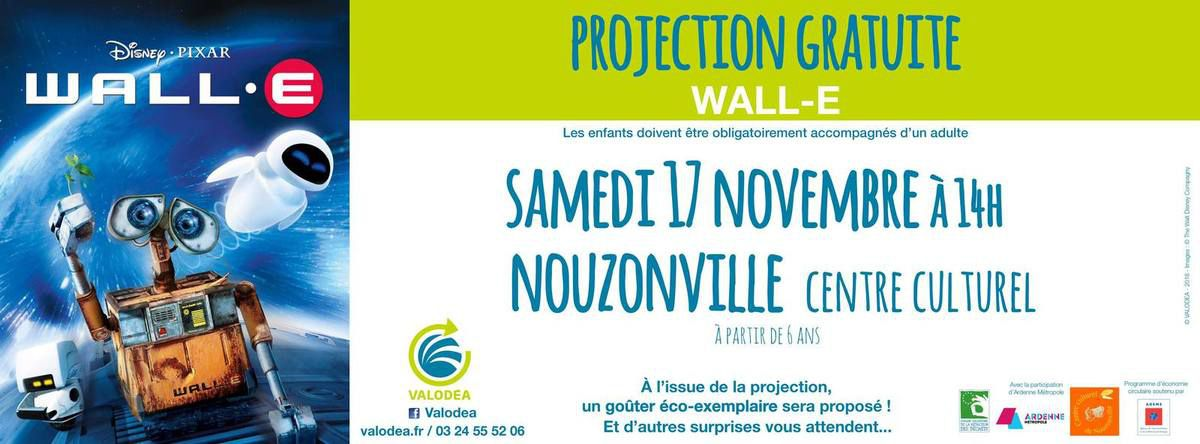Valodea - Projection gratuite du Film Wall-E - 17/11/2018