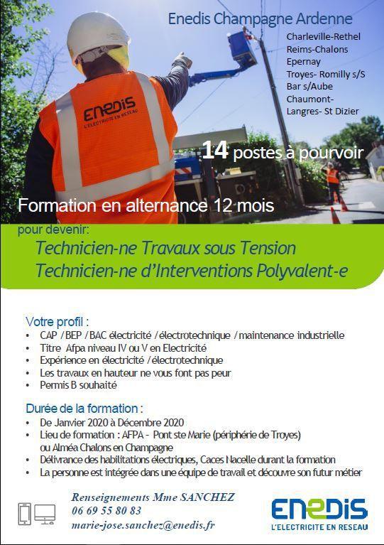 Enedis Champagne Ardenne : Formation en Alternance