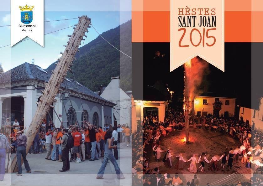 LES (Espagne) Val d'Aran - Feu de la Saint-Jean et Fêtes