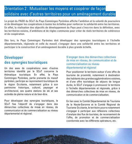 Pays Comminges Pyrénées: un territoire ouvert vers l'extérieur.