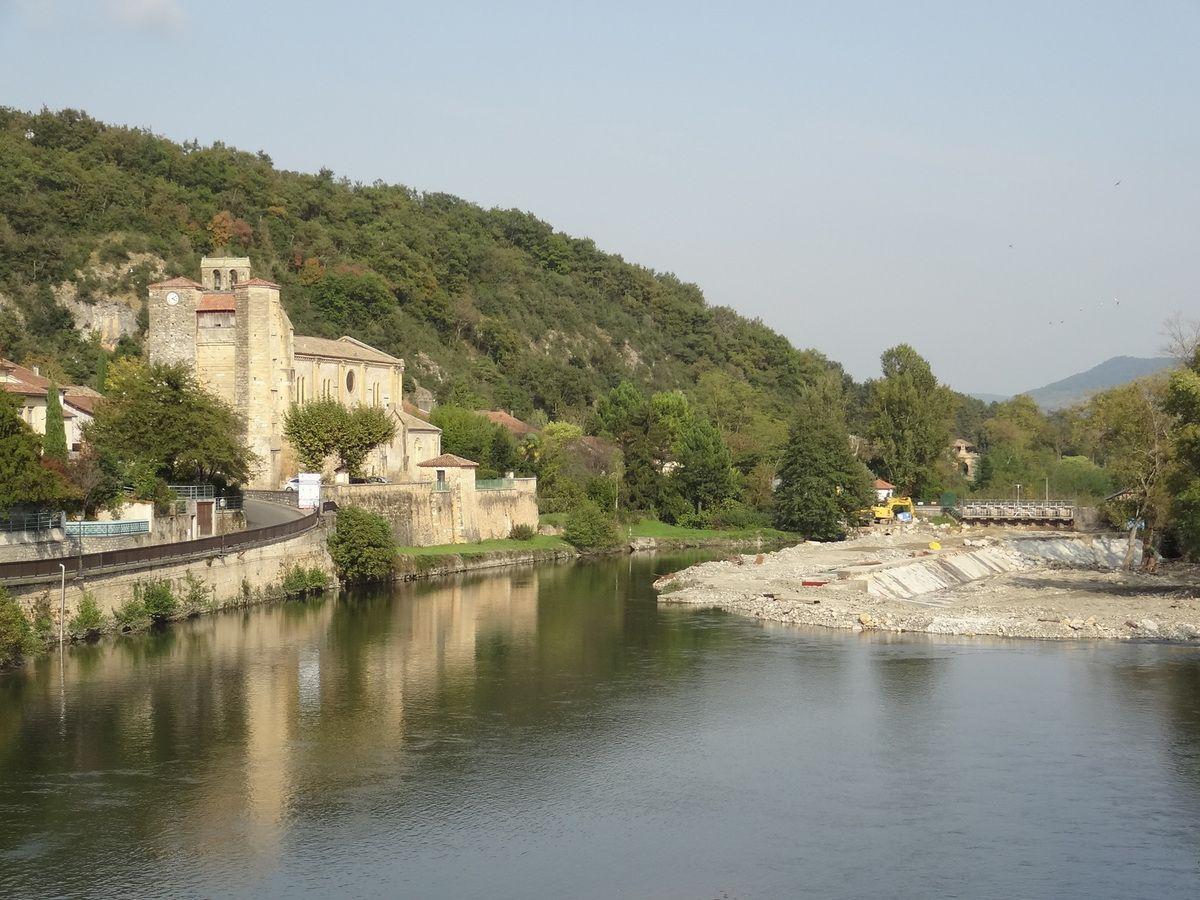 Saint-Martory - Travaux sur la chaussée de Garonne