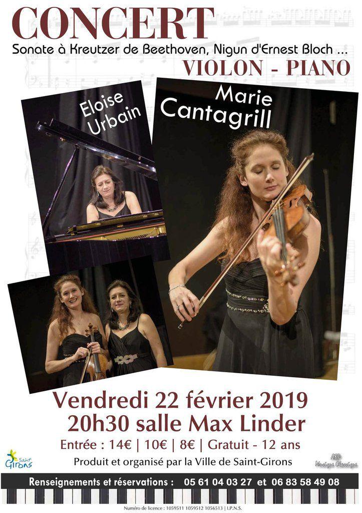 Saint-Girons - Concert de Marie Cantagril et Eloise Urbain