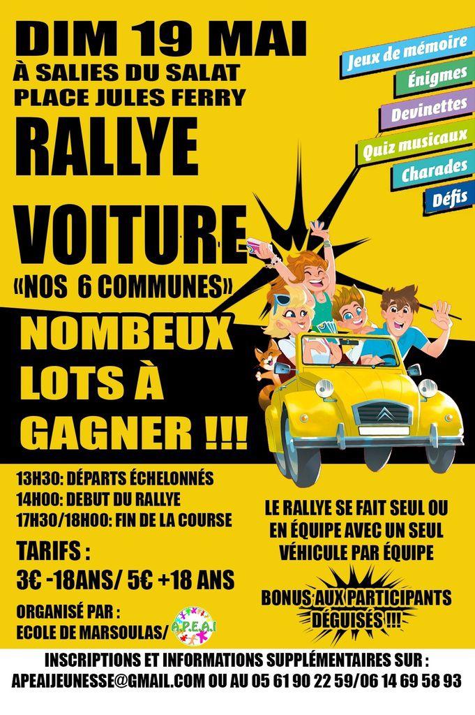 Canton de Sallies - Escape Games Rallye Voitures