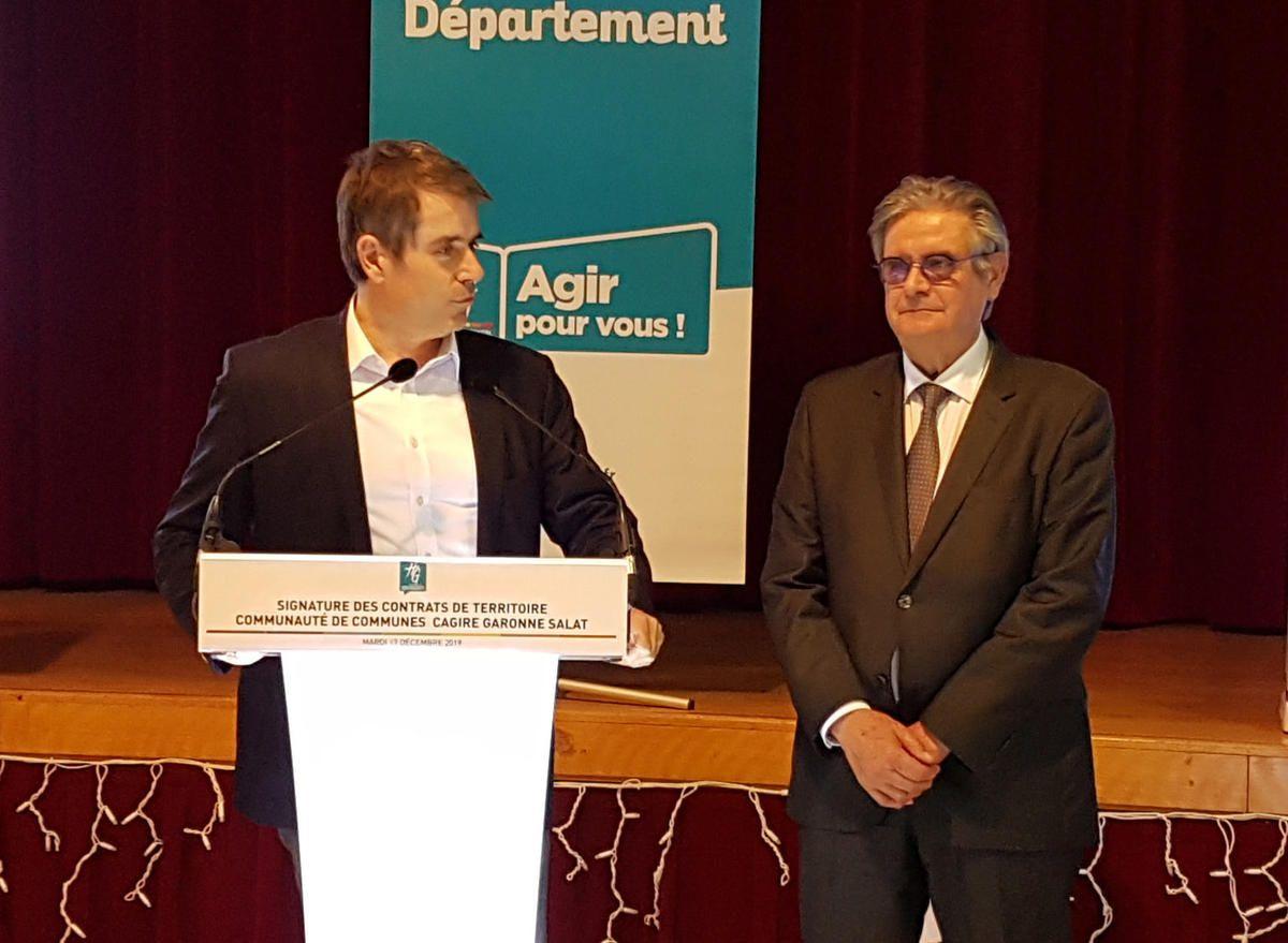 Communauté de Communes Cagire Garonne Salat - Signature des contrats de territoire avec la Communauté de Cagire Garonne Salat