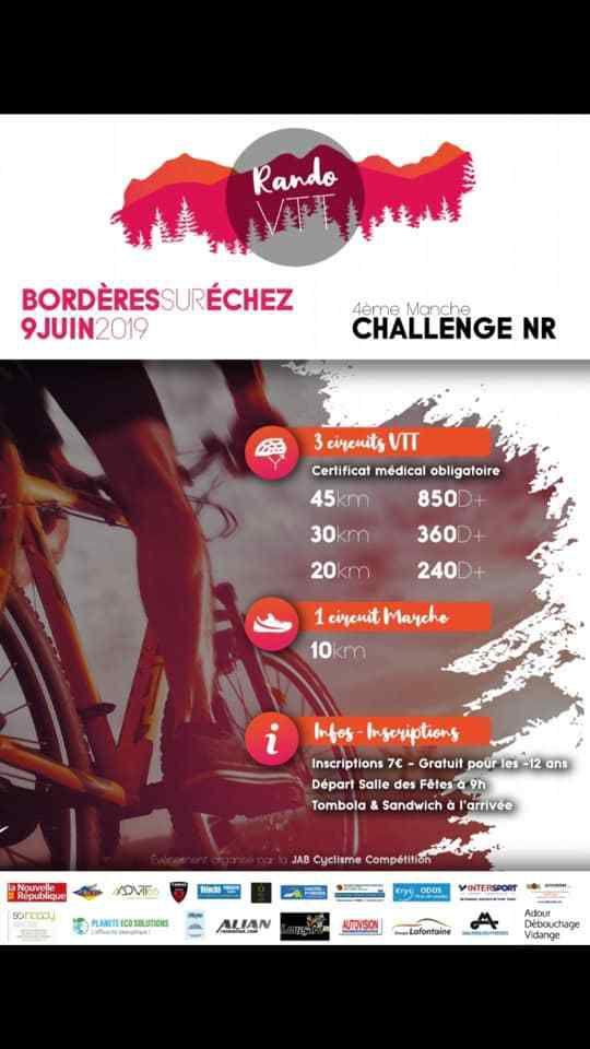 Dimanche 9 juin Bordères 4ème manche NR