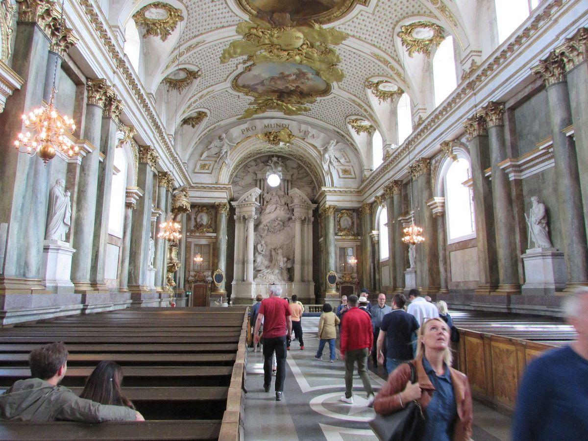 La chapelle Royale du palais de Stockholm.