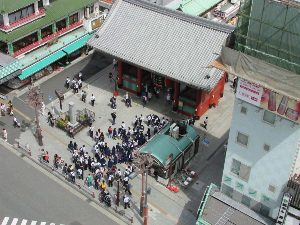 Panoramas d'Asakusa à Tokyo.