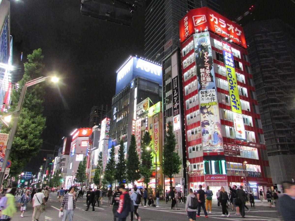 Le quartier Akihabara de Tokyo.
