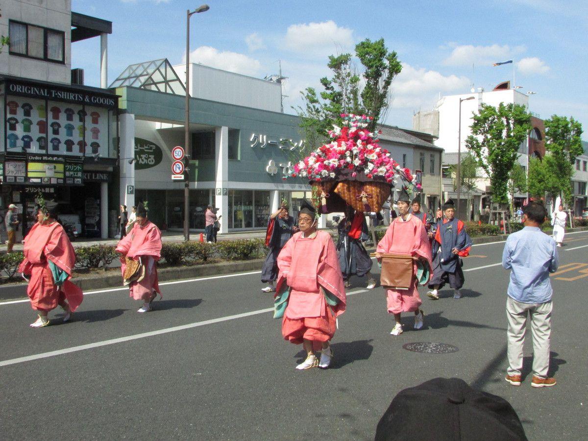 Suite et fin de l'Aoi Matsuri à kyoto.