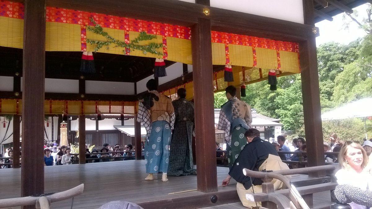 L'Aoi Matsuri au temple Shimogamo de Kyoto.