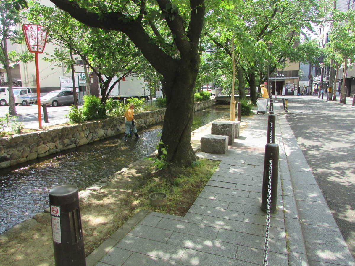 Le quartier Shimbashi côté ouest de Kyoto.