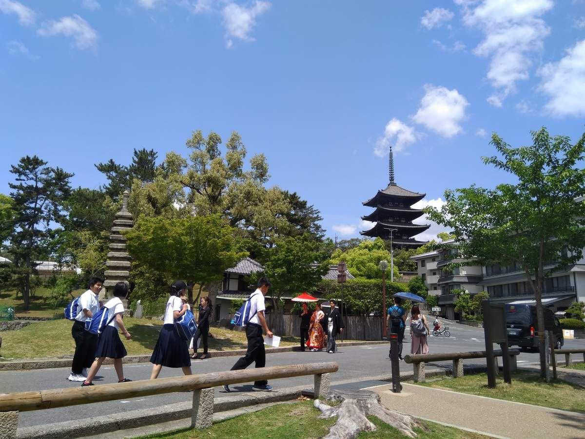 Le temple Kofuku-Ji de Nara.