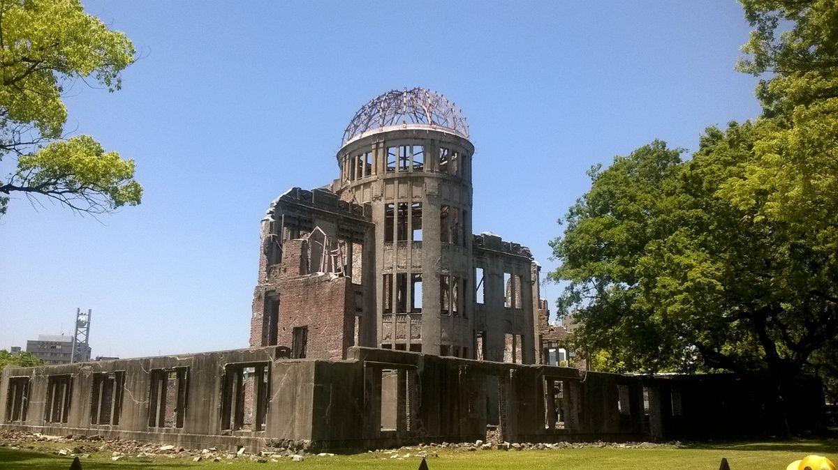 Le dôme de la bombe A à Hiroshima.