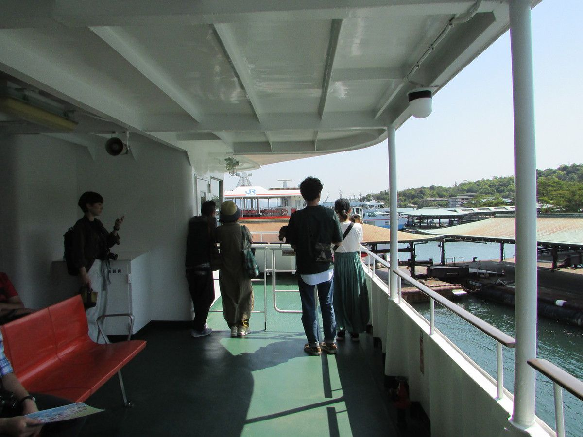 Embarquement pour Miyajima.