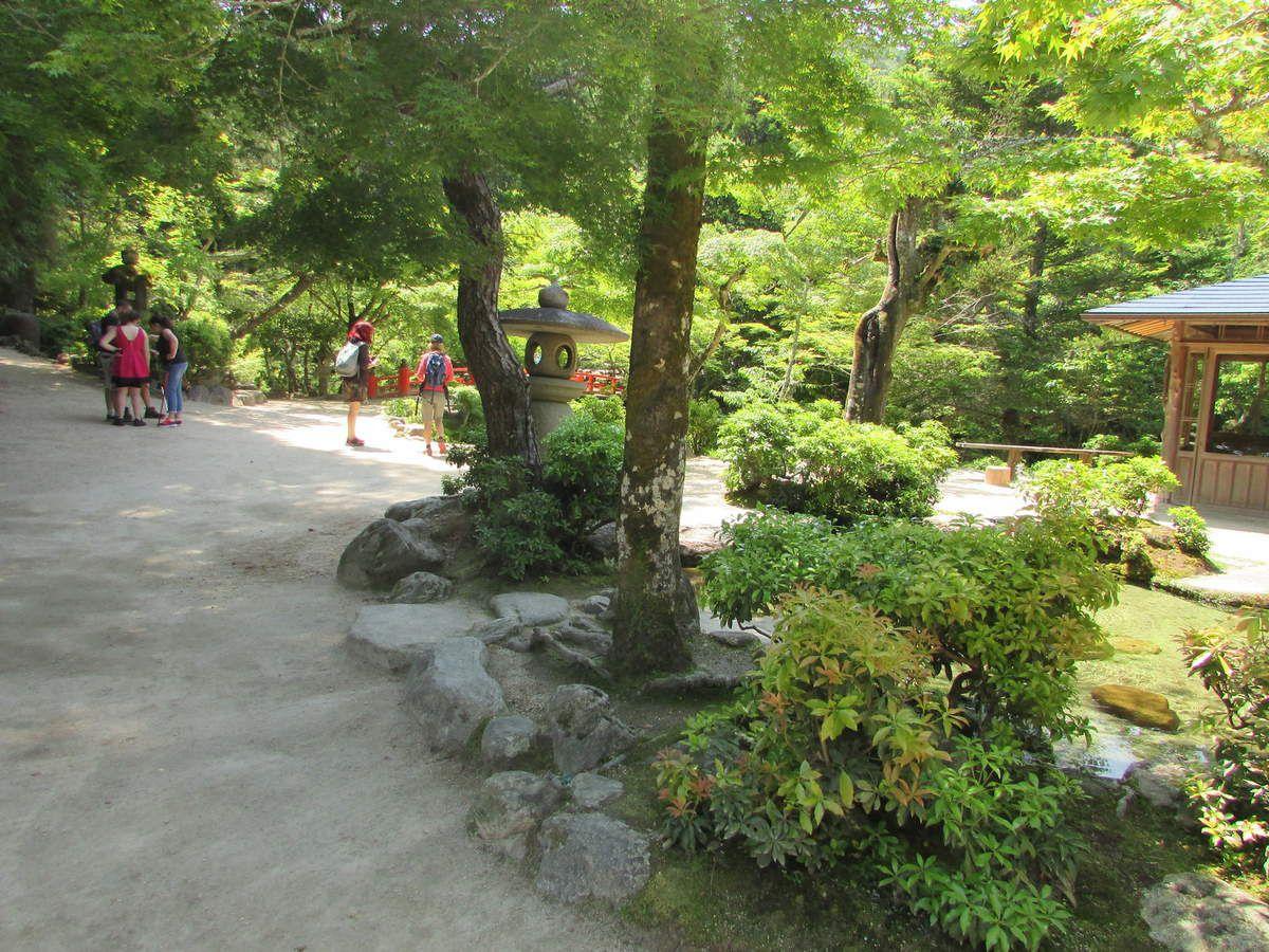 Montée vers le mont Misen sur l'île de Miyajima.