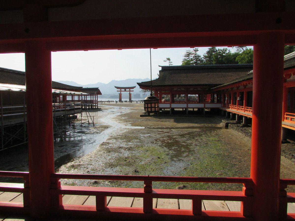 Le sanctuaire Itsukushima de Miyajima.