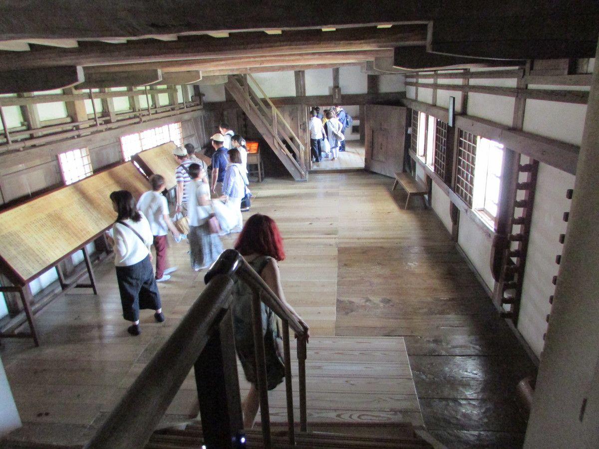 Le château d'Himeji ( L'intérieur).