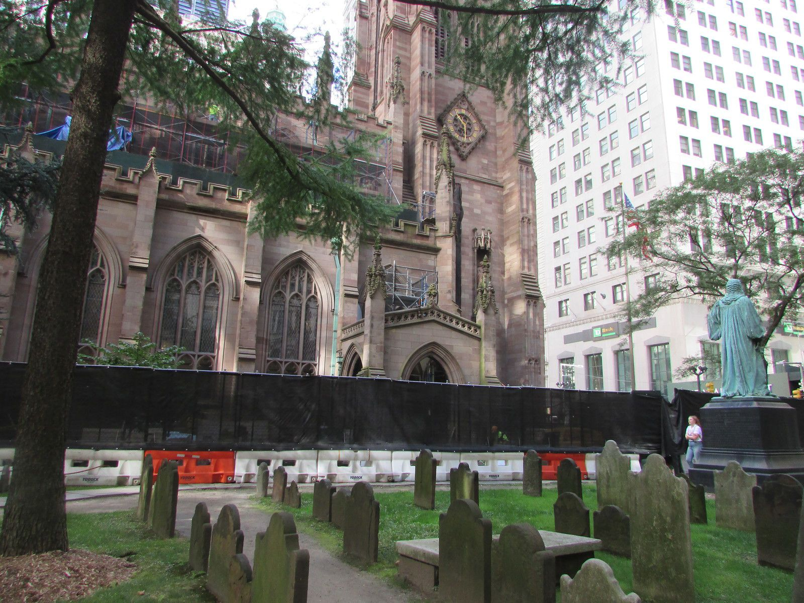 The Trinity Church of Manhattan.