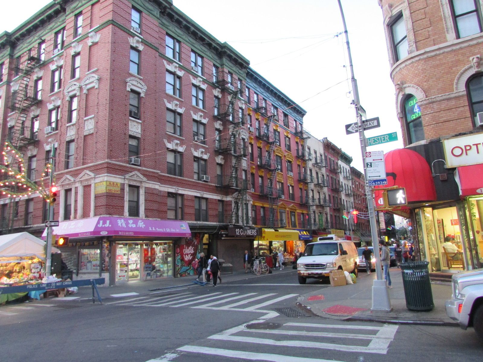 Le quartier Italien de Manhattan ou Little italy.
