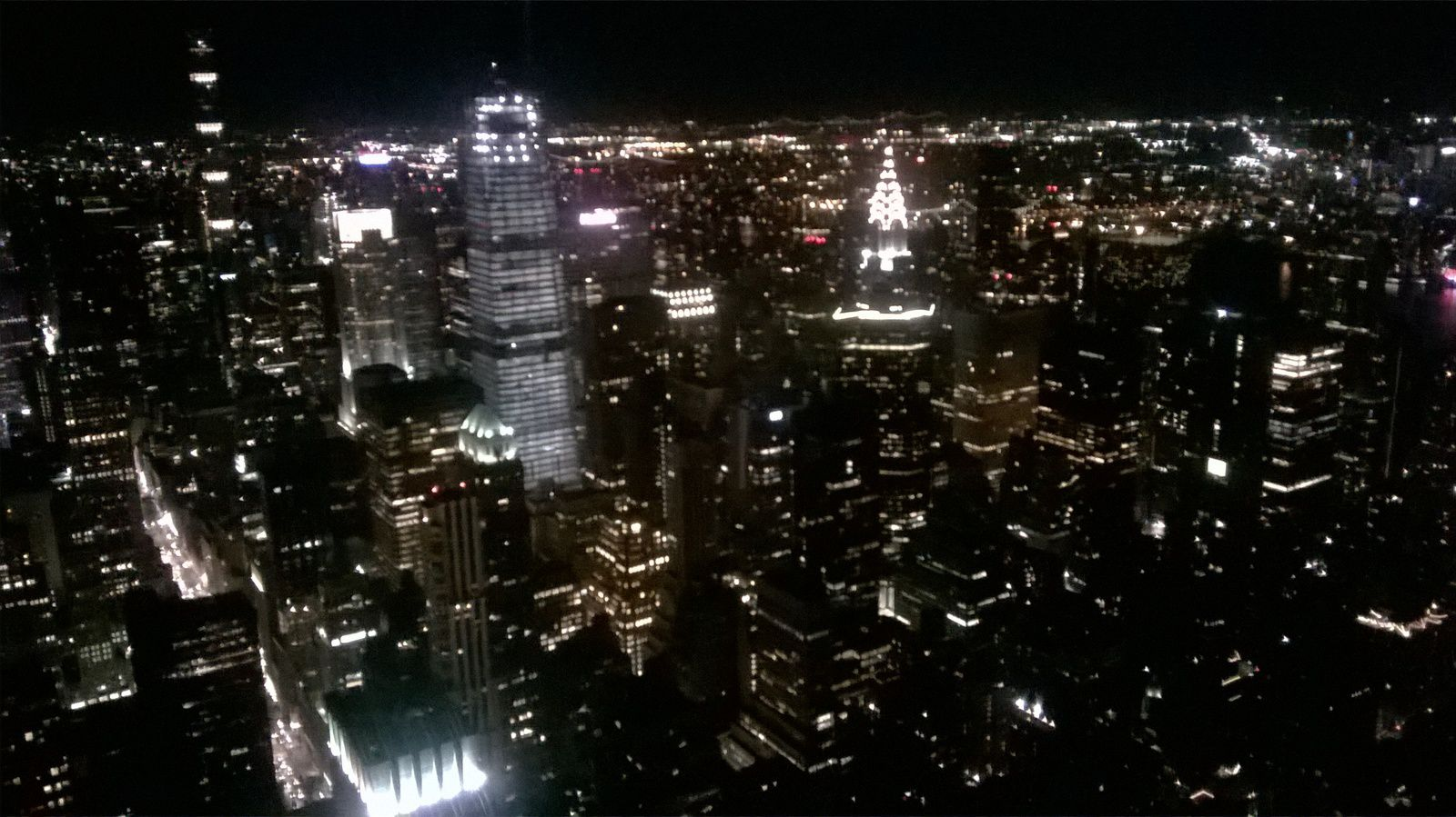 L'Empire State Building la nuit.