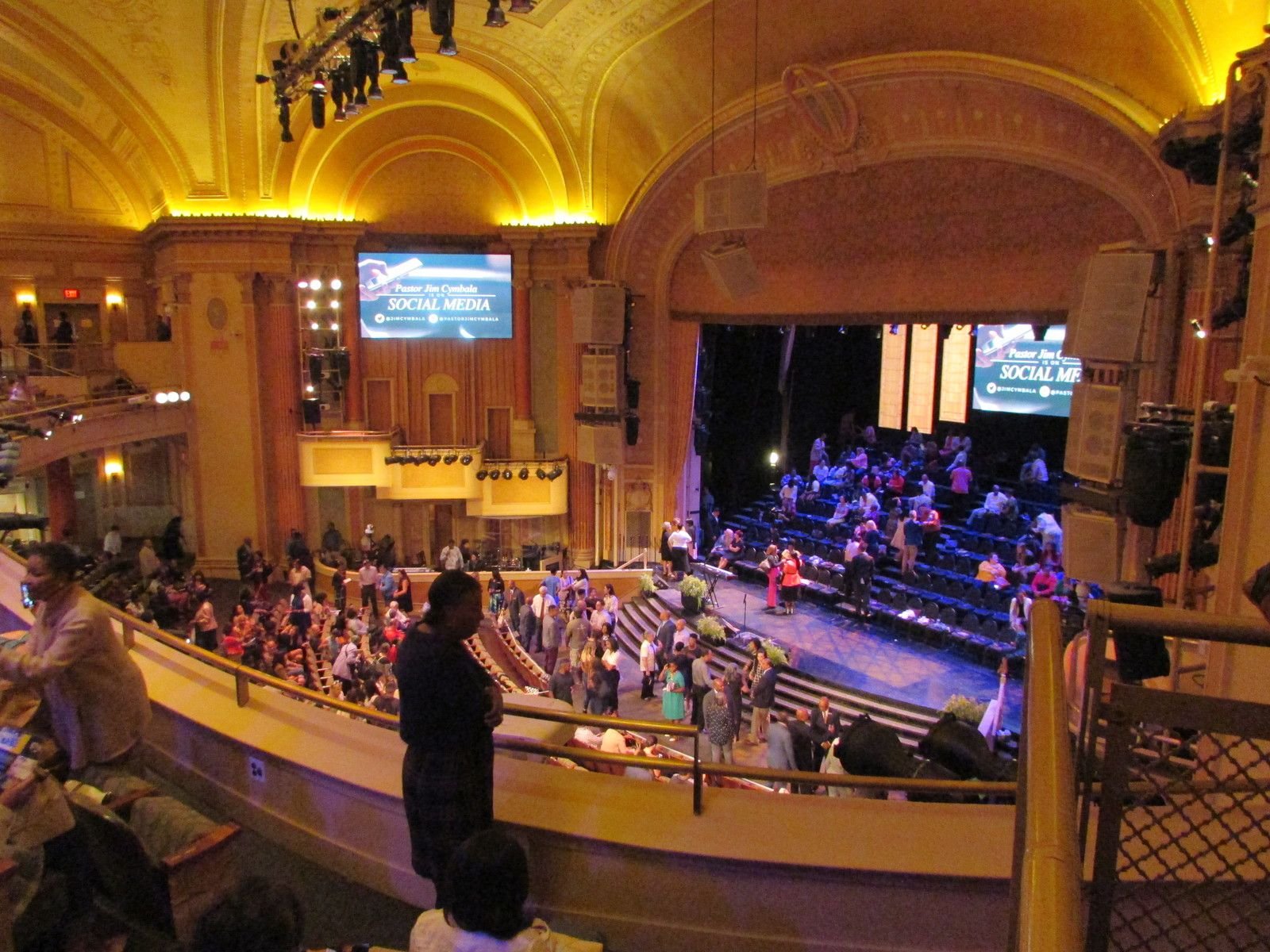 Messe gospel au Tabernacle dans Brooklyn.