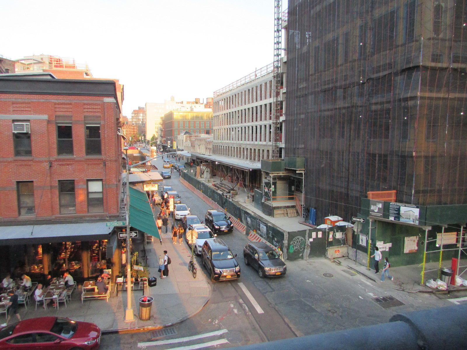 Promenade le long de la High Line.