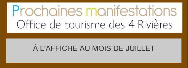 Notre Office de Tourisme propose de nombreuses animation pour Juillet 2020