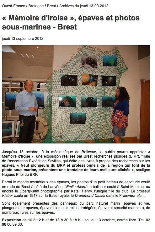 """""""Mémoires d'Iroise"""", Exposition de 8 photographes passionnés d'épaves"""