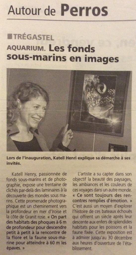 article de presse du Trégor