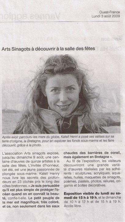 Ouest France 2009 - expo Arts Sinagots