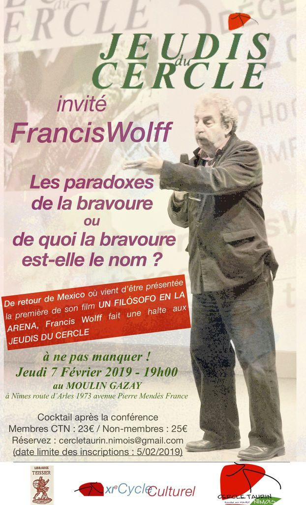 Francis Wolff revient !