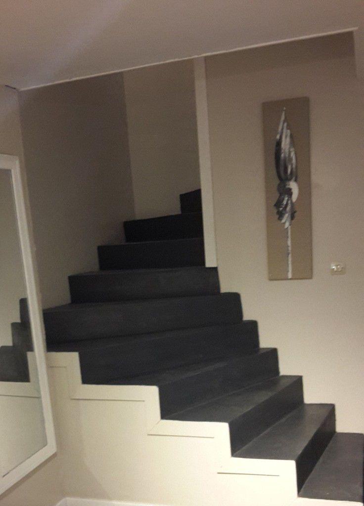 Escalier tendance et chic en noir et blanc