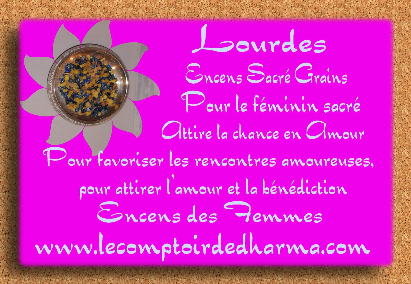 Lourdes grains sacrés